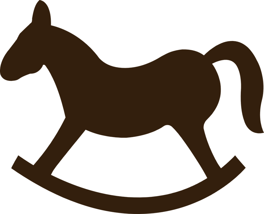Clipart fox clear background. Black baby rocking horse