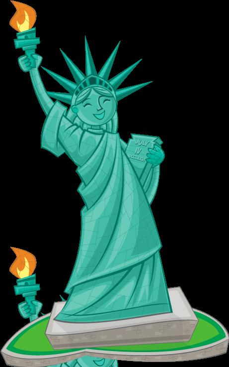 Greek clipart bust roman. Statue of liberty clip