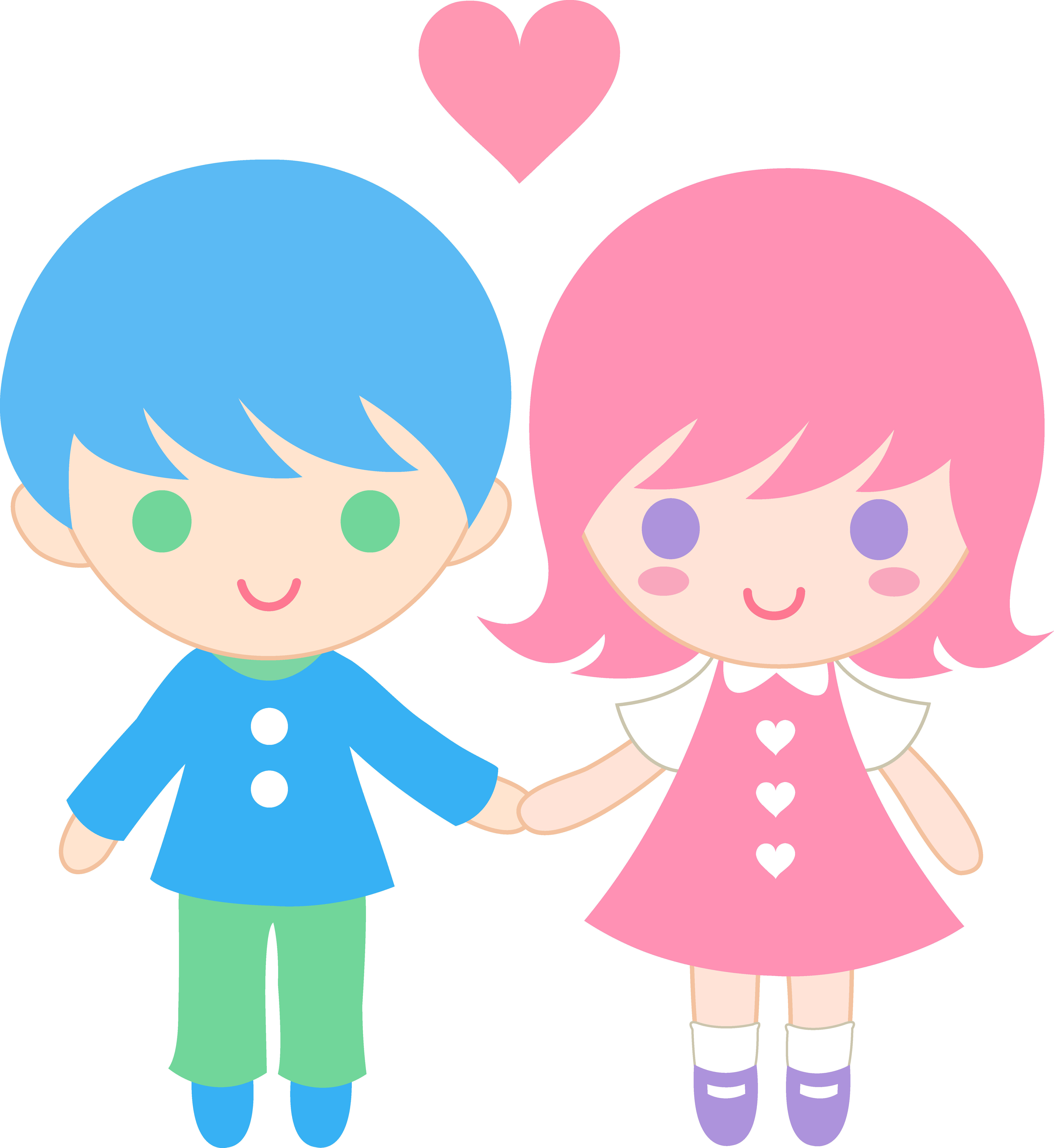Valentine clipart cute. Love couple pencil and