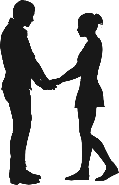 Couples silhouette at getdrawings. Couple clipart fox