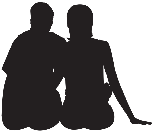 Sitting silhouette png clip. Clipart turtle couple