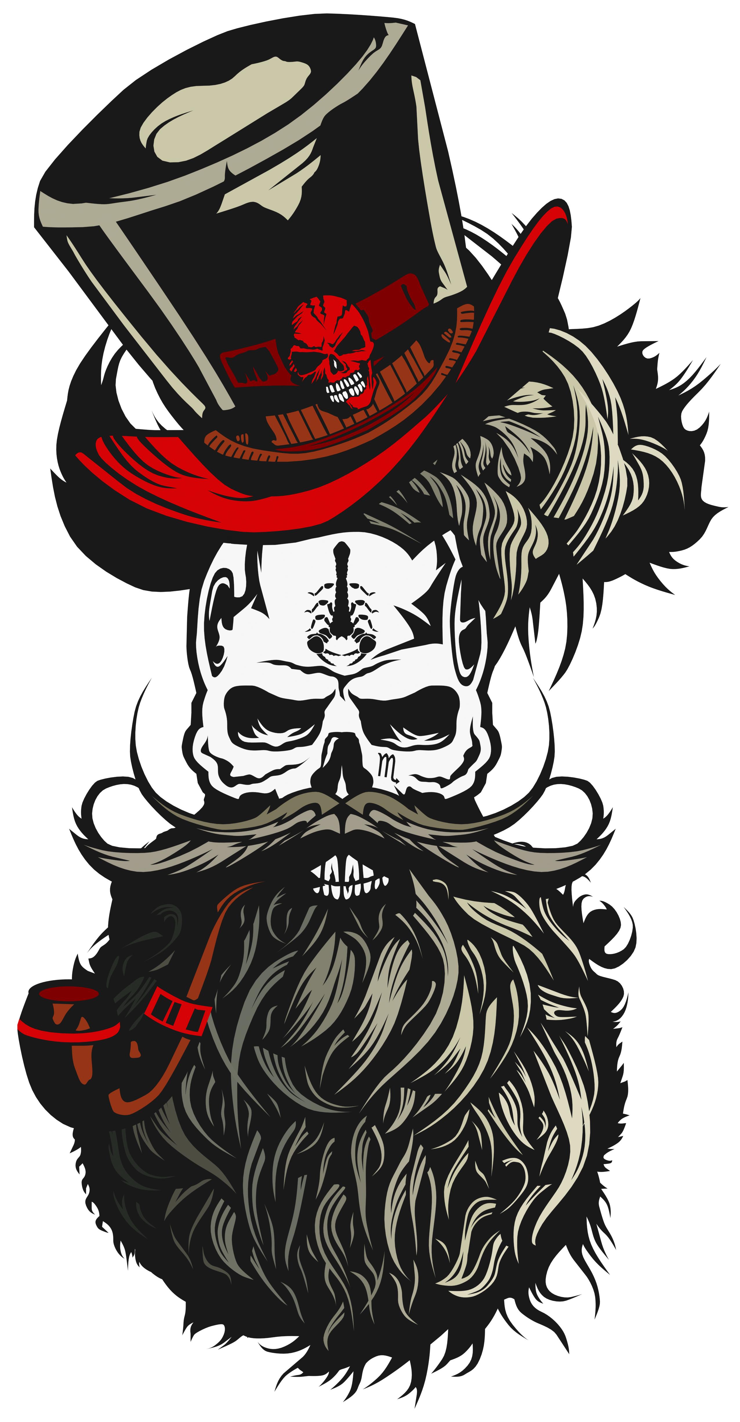 Tee shirt tete de. Moustache clipart pirate accessory