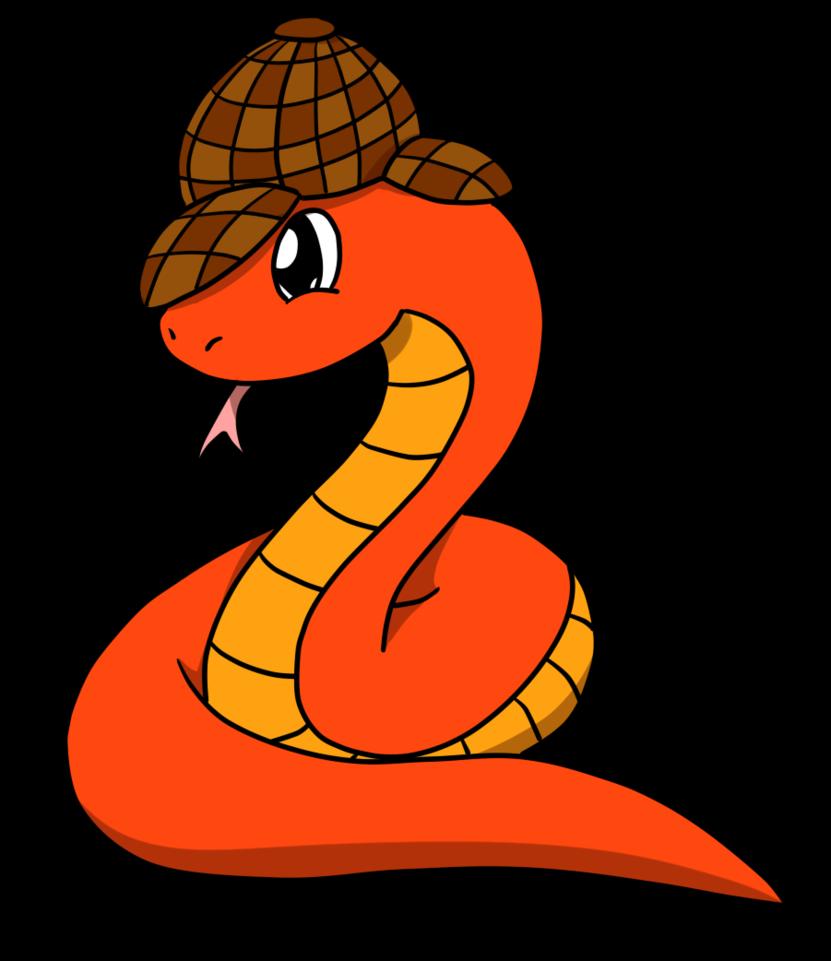 Snake by loofytehfox on. Detective clipart fox