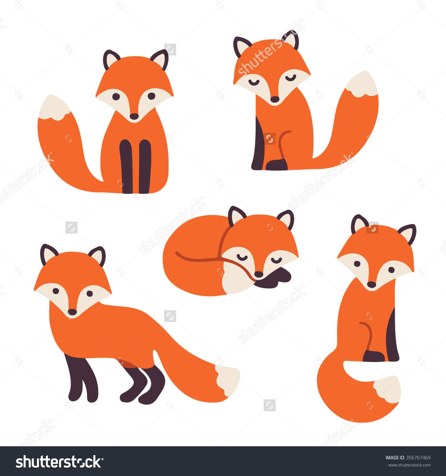 Fox clipart easy. Pin by ehsan on