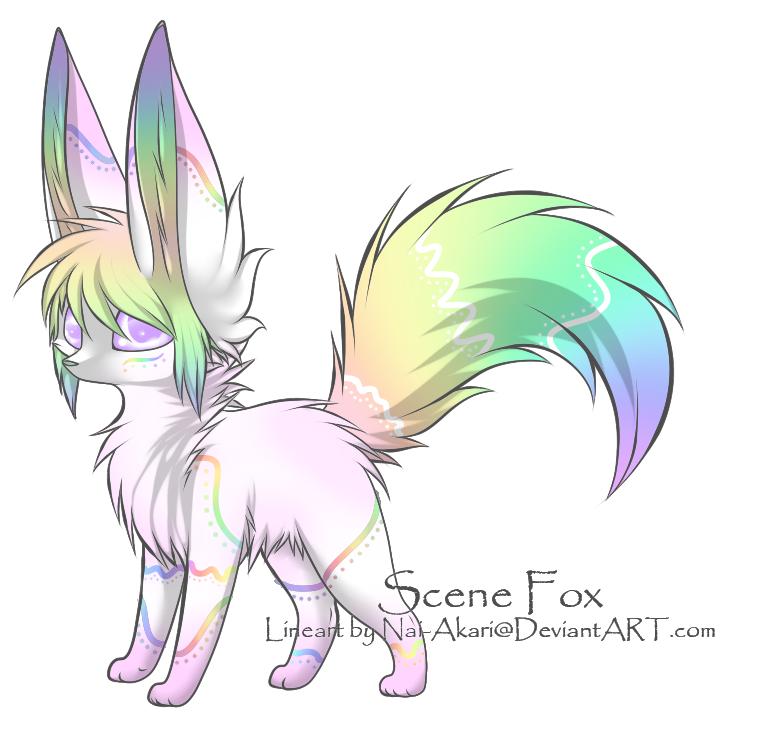 Open rainbow adoptable by. Clipart fox fennec fox