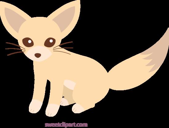 Clipart fox fennec fox. Cute clip art free