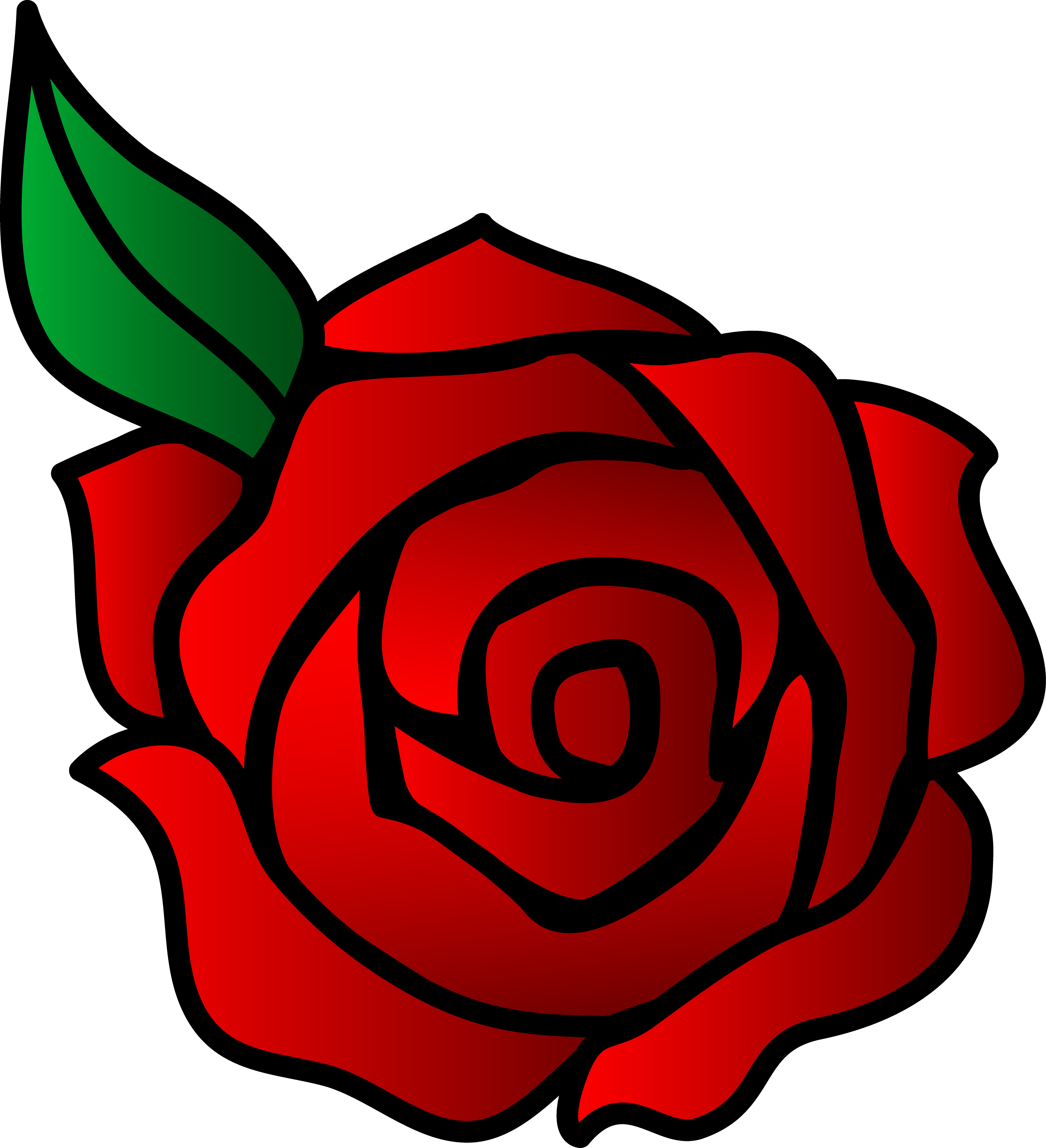 Free red rose download. Clipart roses easy