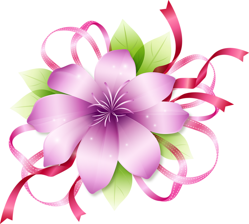 Clipart roses modern. Pink flower gallery yopriceville