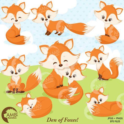 Pinterest . Fox clipart forest