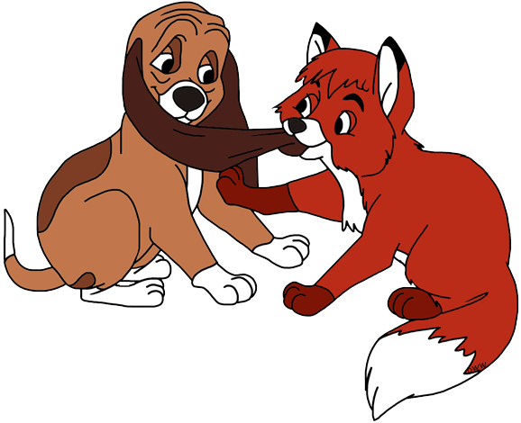Clip art disney galore. Fox clipart fox and the hound