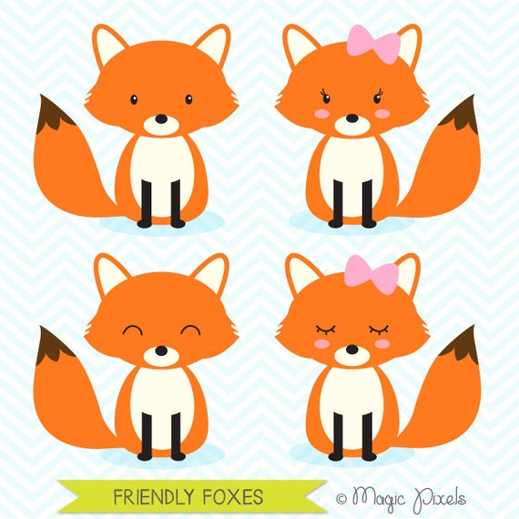 Woodland clipart orange fox. Animals forest commercial use