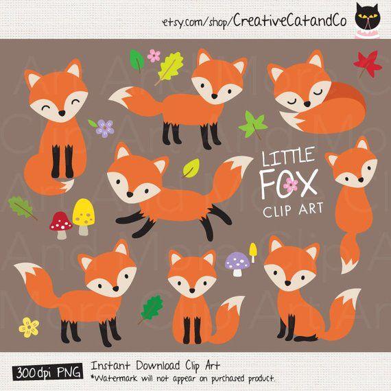 Baby clip art cute. Clipart fox graphic