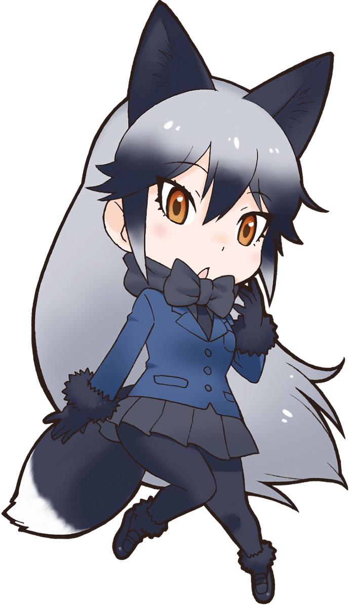 Wolves clipart grey fox. Silver japari library the