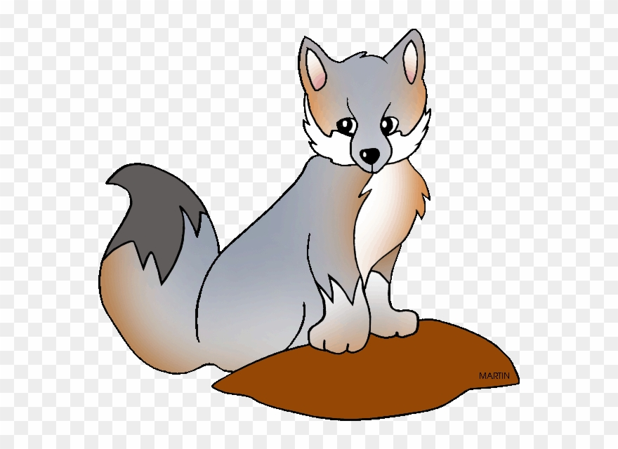 Delaware state animal png. Wolf clipart grey fox