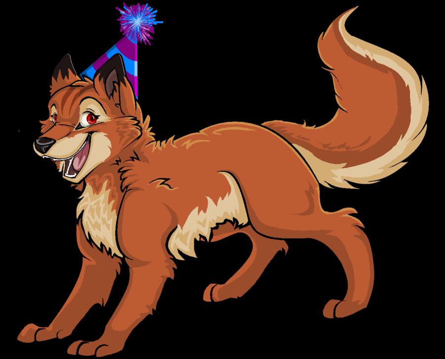 fox clipart happy birthday