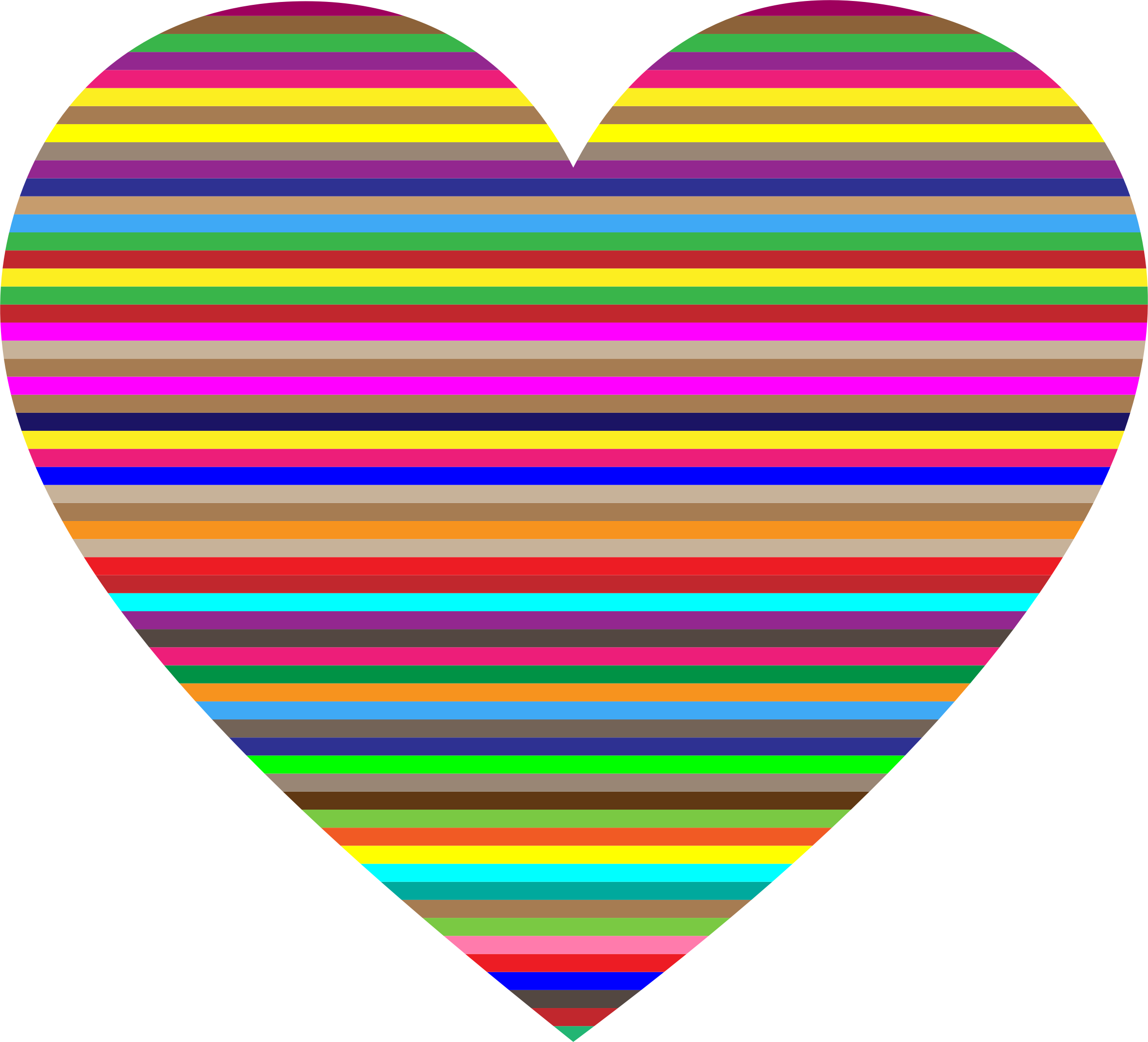 Heat clipart valentines day heart. Colorful horizontal striped big