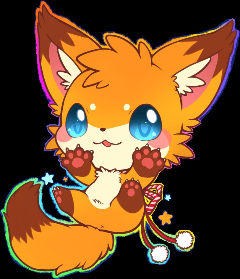 kitty freetoedit. Clipart fox kawaii
