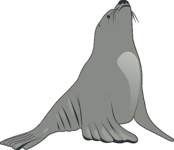 Seal clipart happy. Sea lion clip art