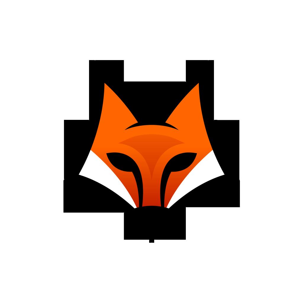 Fill logo only a. Clipart fox monogram