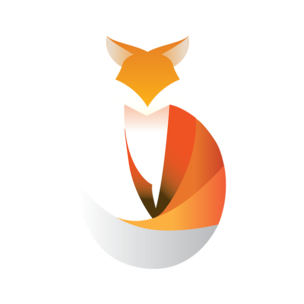 Logo animal on behance. Clipart reading fox