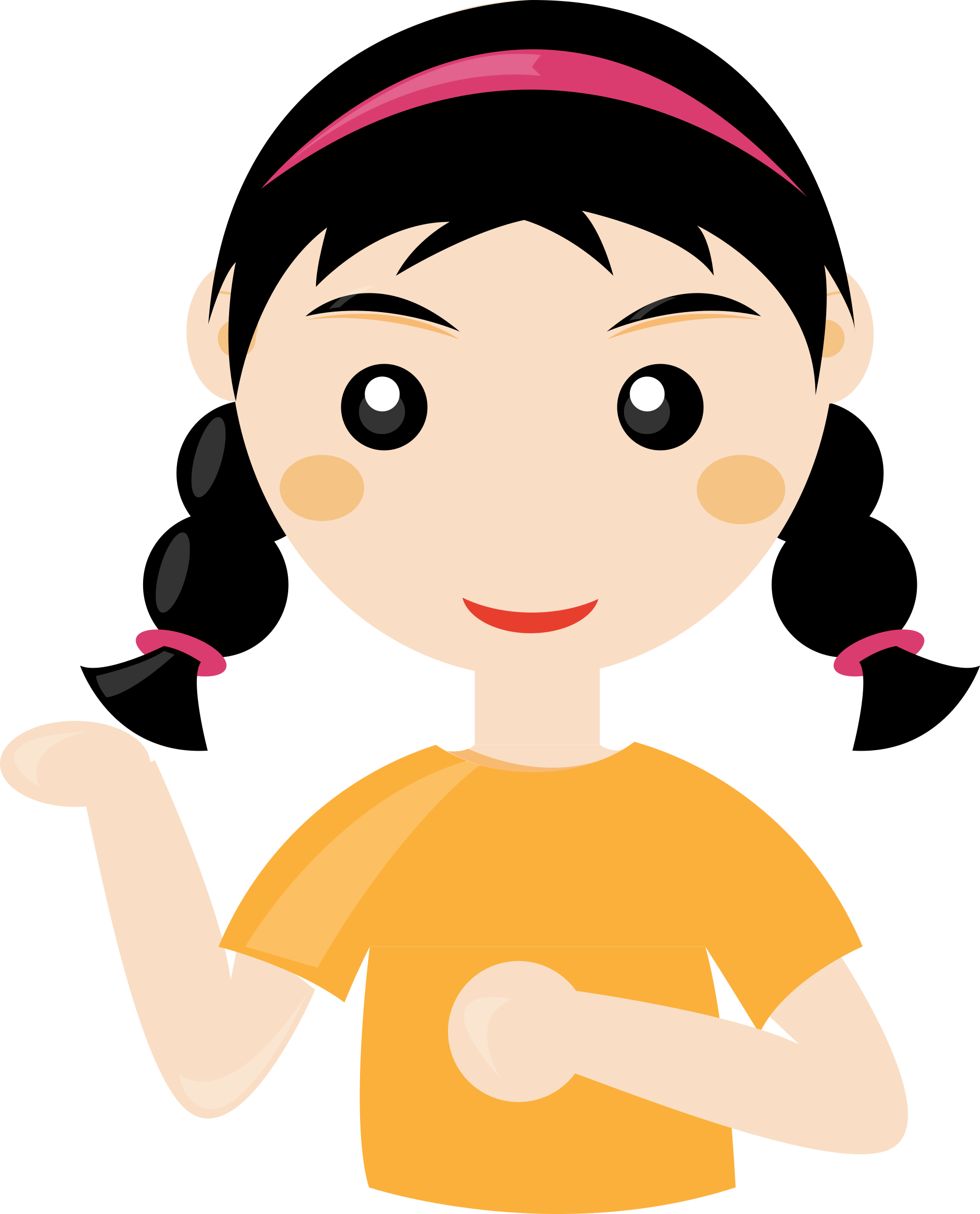 Girl cute pencil and. Clipart fox nose