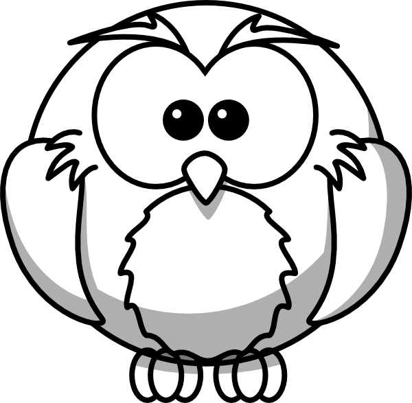 Fat clipart owl. Drawings of owls outline