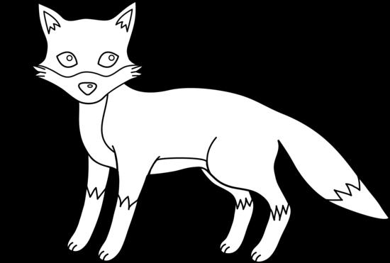 Cute line art free. Fox clipart outline
