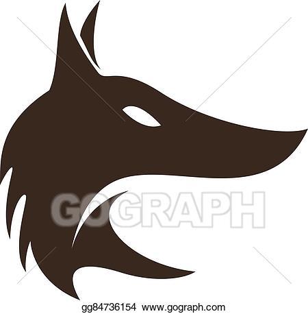 Fox clipart profile. Vector art head in