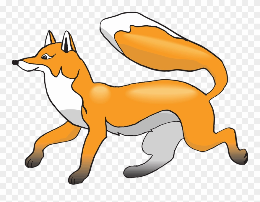 Clip png download . Fox clipart running