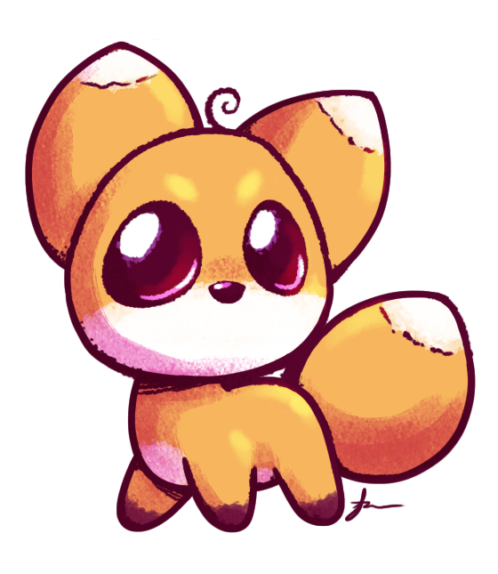 Fox clipart easy. Cute drawing at getdrawings