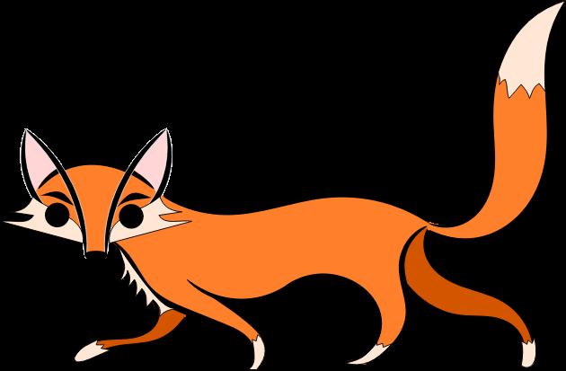Mammals clip art panda. Clipart fox small fox
