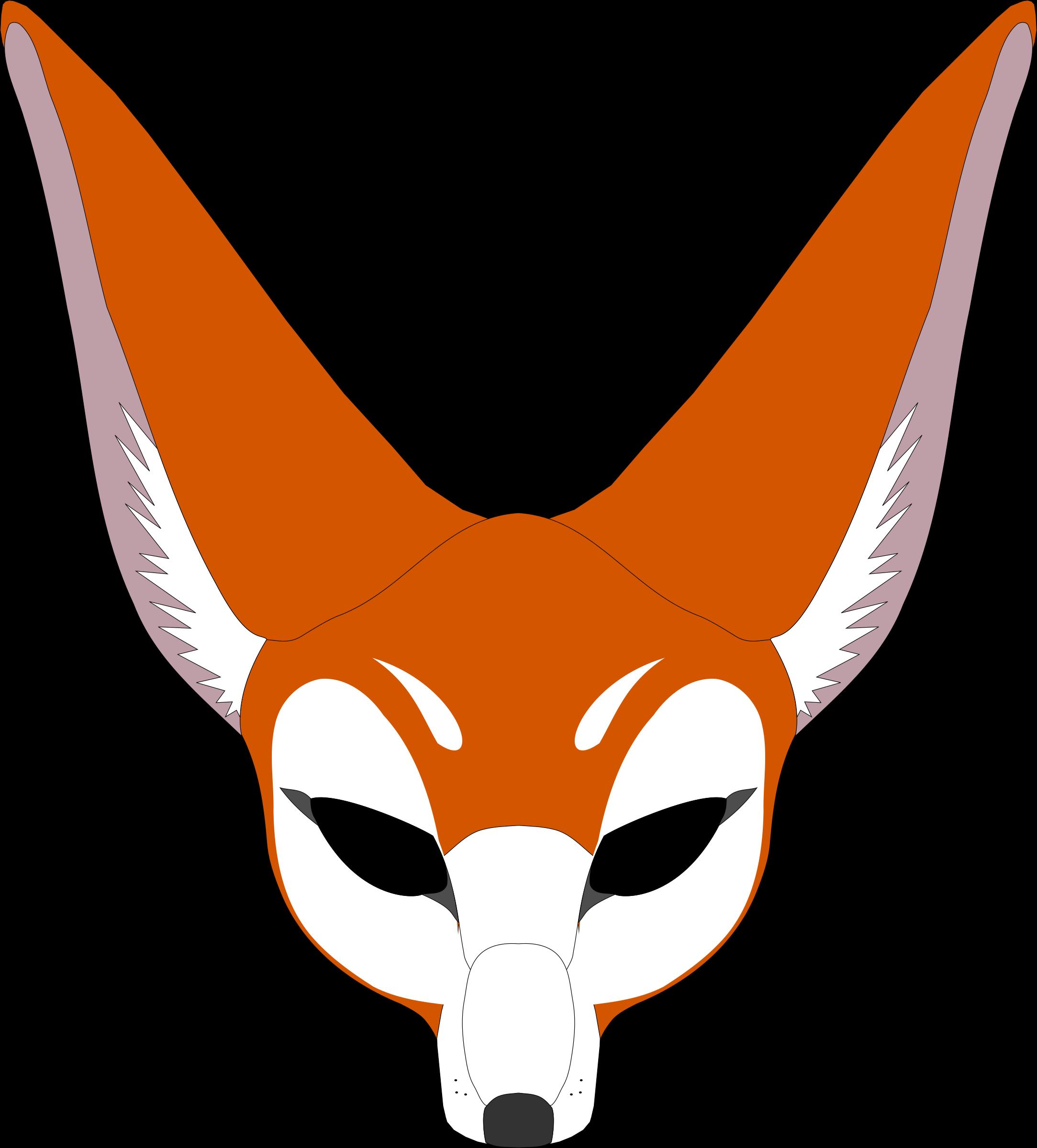 Mask clipart animal. Fox big image png