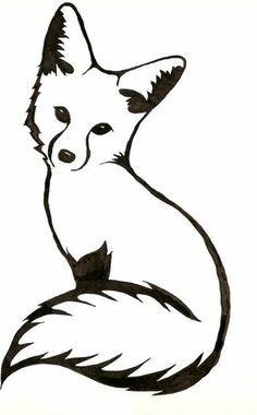 Clipart fox small fox. Just a tattoo idea