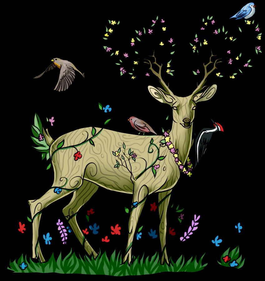 Clipart fox spring. Deer explore pictures