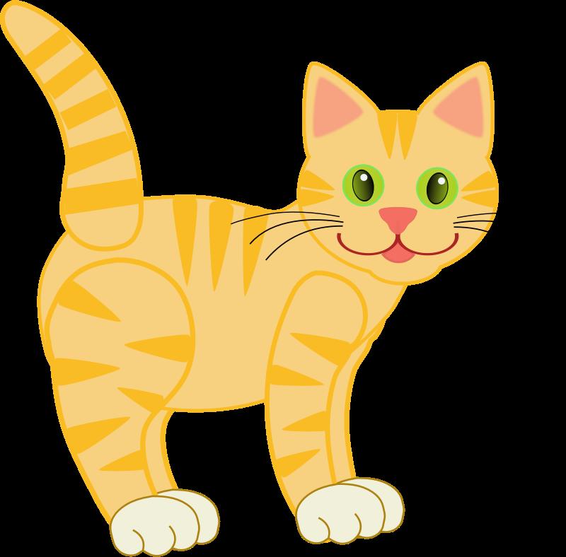 Yellow tiger cat four. Pet clipart kitten