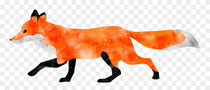Red no png download. Clipart fox transparent background