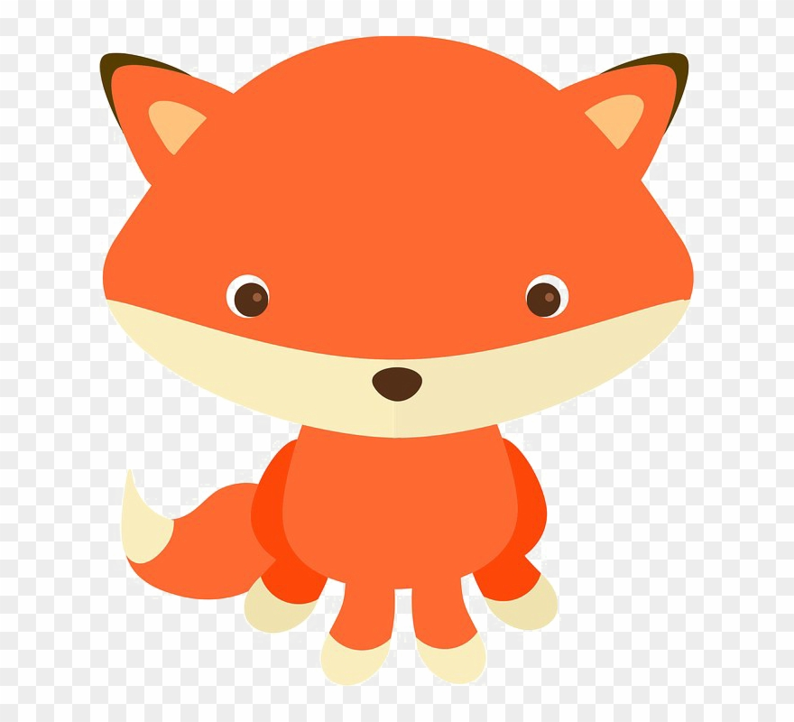 Clipart fox transparent background. Baby image woodland creatures