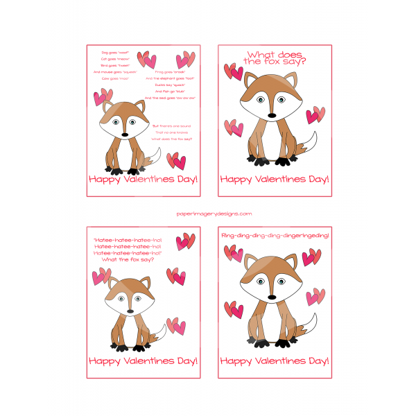 What does the say. Clipart fox valentines day