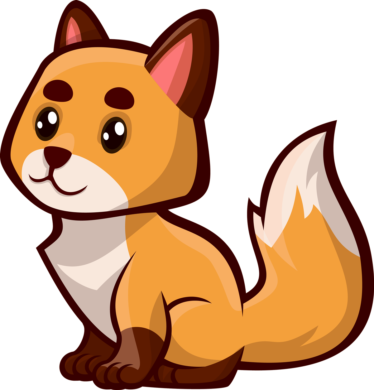 Free clipart fox. Mammal orange animal vector