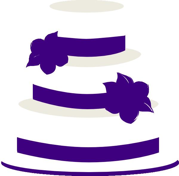 Number 3 clipart purple. Wedding cake clip art