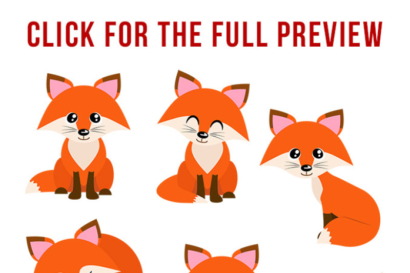 Red foxes forest animals. Fox clipart winter