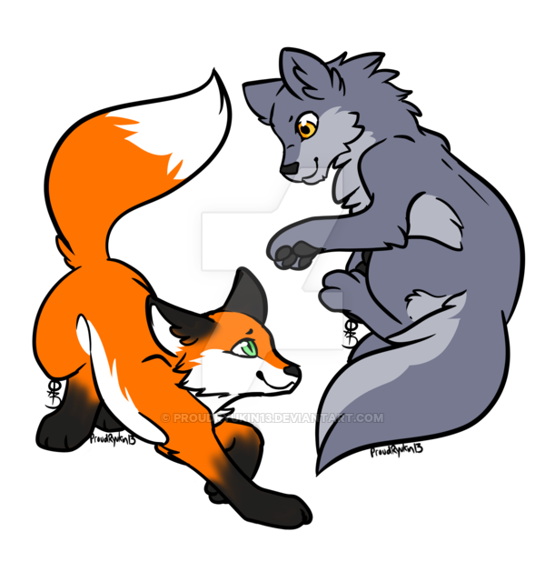 fox clipart wolf