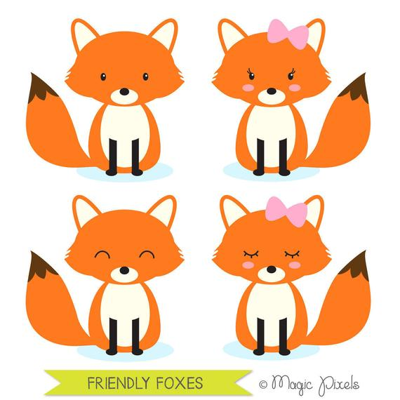 Woodland clipart cartoon fox. Animals forest commercial use