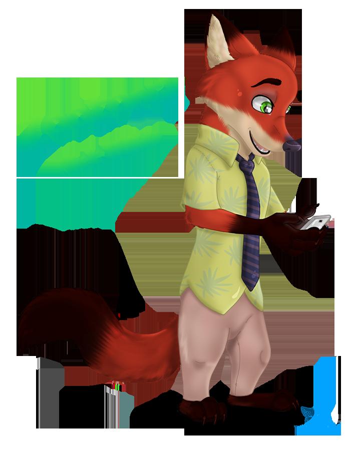 Nick wilde weasyl zootopianick. Clipart fox zootopia