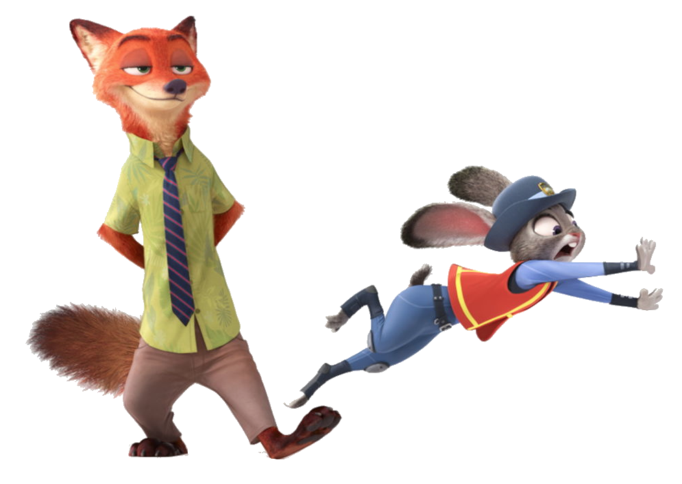 Clipart fox zootopia. Image nicknjudytransparent png wiki