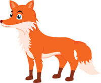 Fox clipart. Free clip art pictures