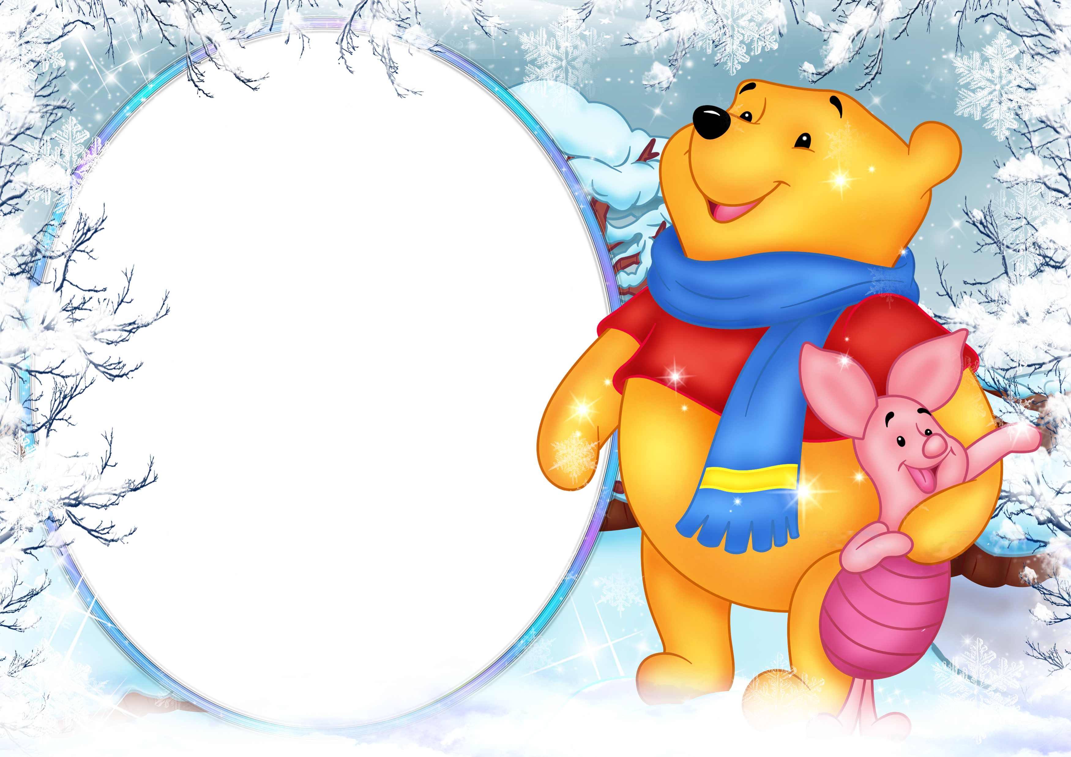 Winnie the pooh png. Winter clipart holiday