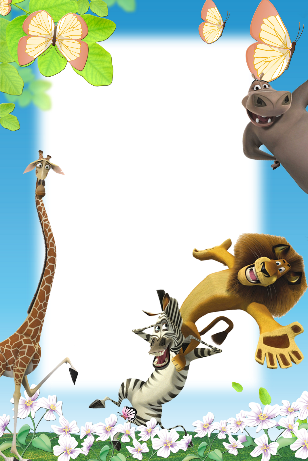 Frames png infantil er. Jungle clipart nature frame