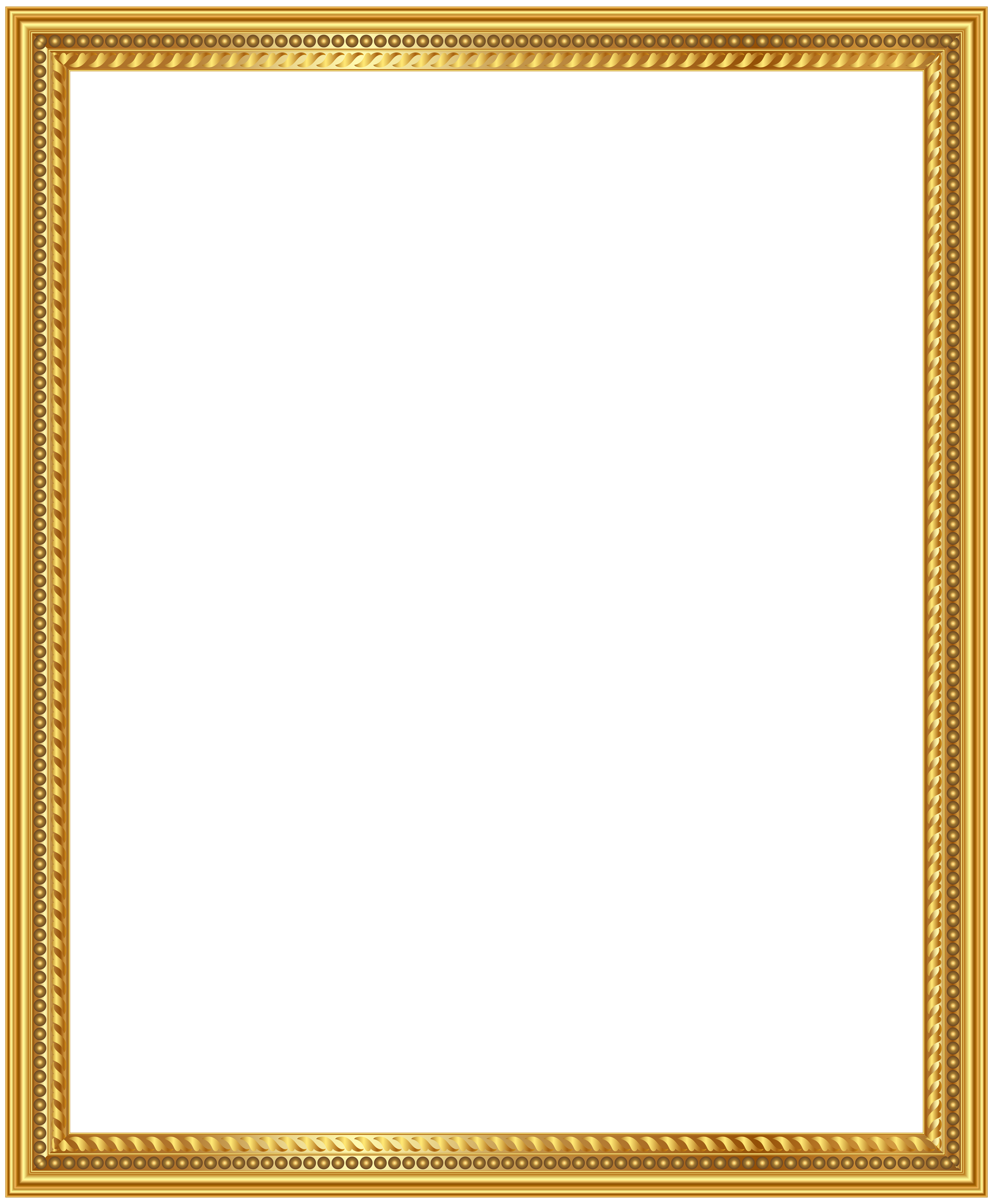 Picture frame png. Gold deco clip art