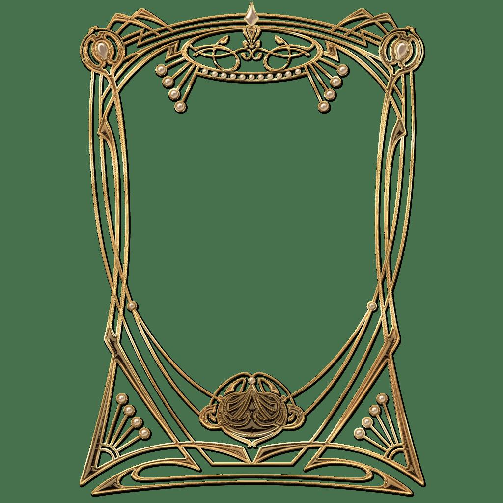 Clipart frames art deco. Golden frame transparent png
